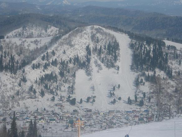 На лыжах с горы Сыркаши