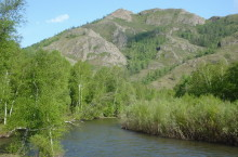 Река Аскиз в Хакасии.