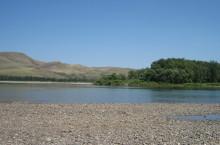 Река Базыр в Хакасии
