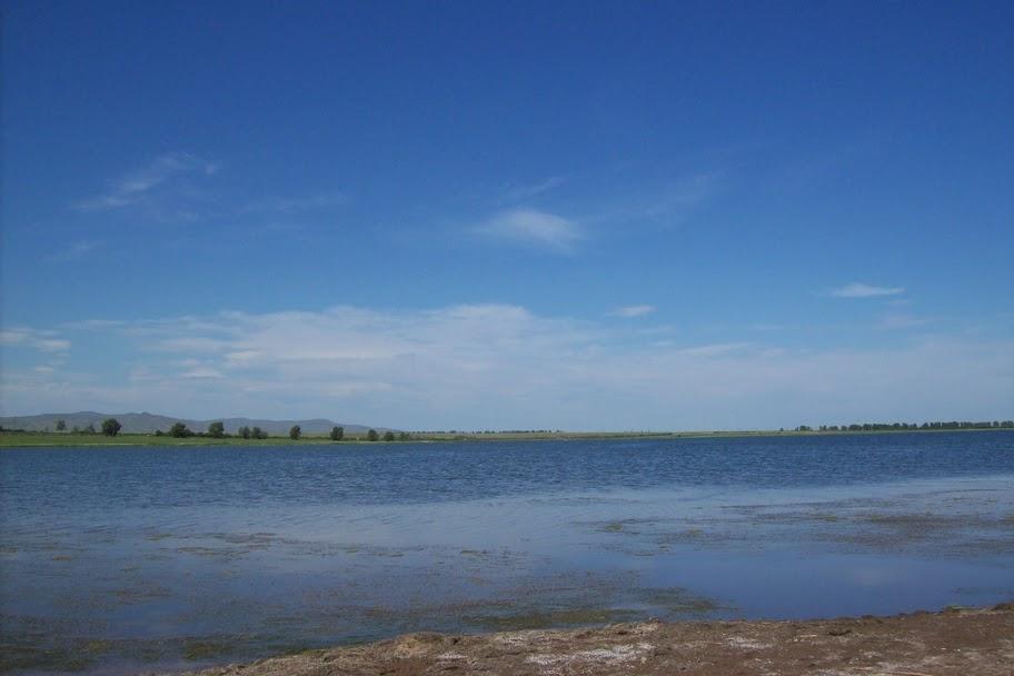 Озеро Красное в Усть-Абаканском районе Хакасии