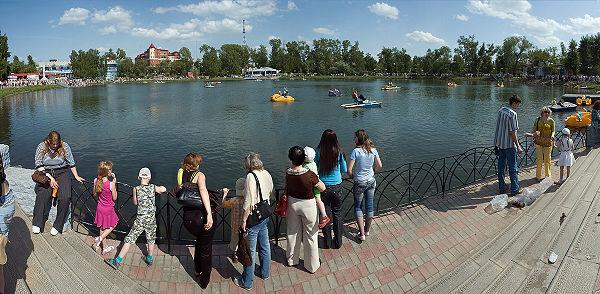 Белое озеро в городе Томске