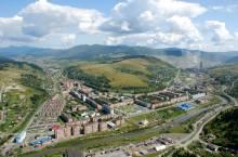 Город Таштагол в Кемеровской области.