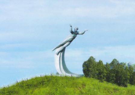 Памятник Терешковой близ села Баево