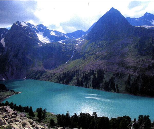 Мультинское озеро с высоты