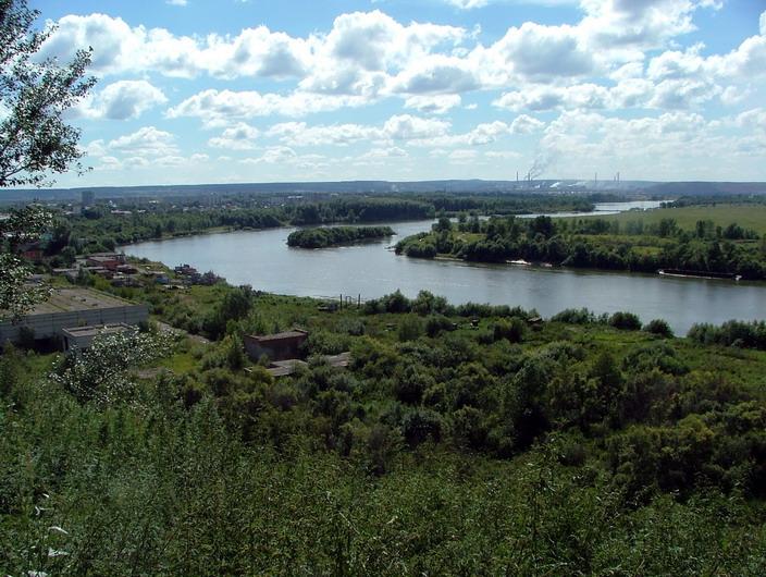 Река Чулым в Томской области