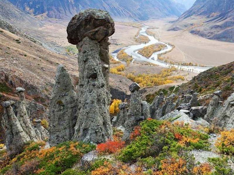 Каменные грибы в Горном Алтае