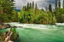 Река Кучерла в Горном Алтае.