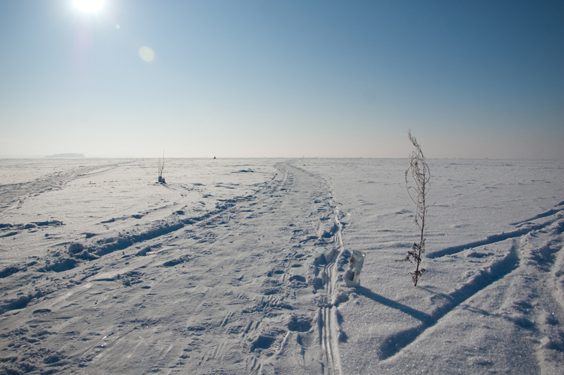 Новосибирское водохранилище зимой