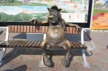 Скульптура «Волк-спортсмен»
