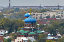 Покровский кафедральный собор в Барнауле.