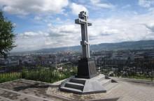 Поклонный крест на Караульной горе в Красноярске