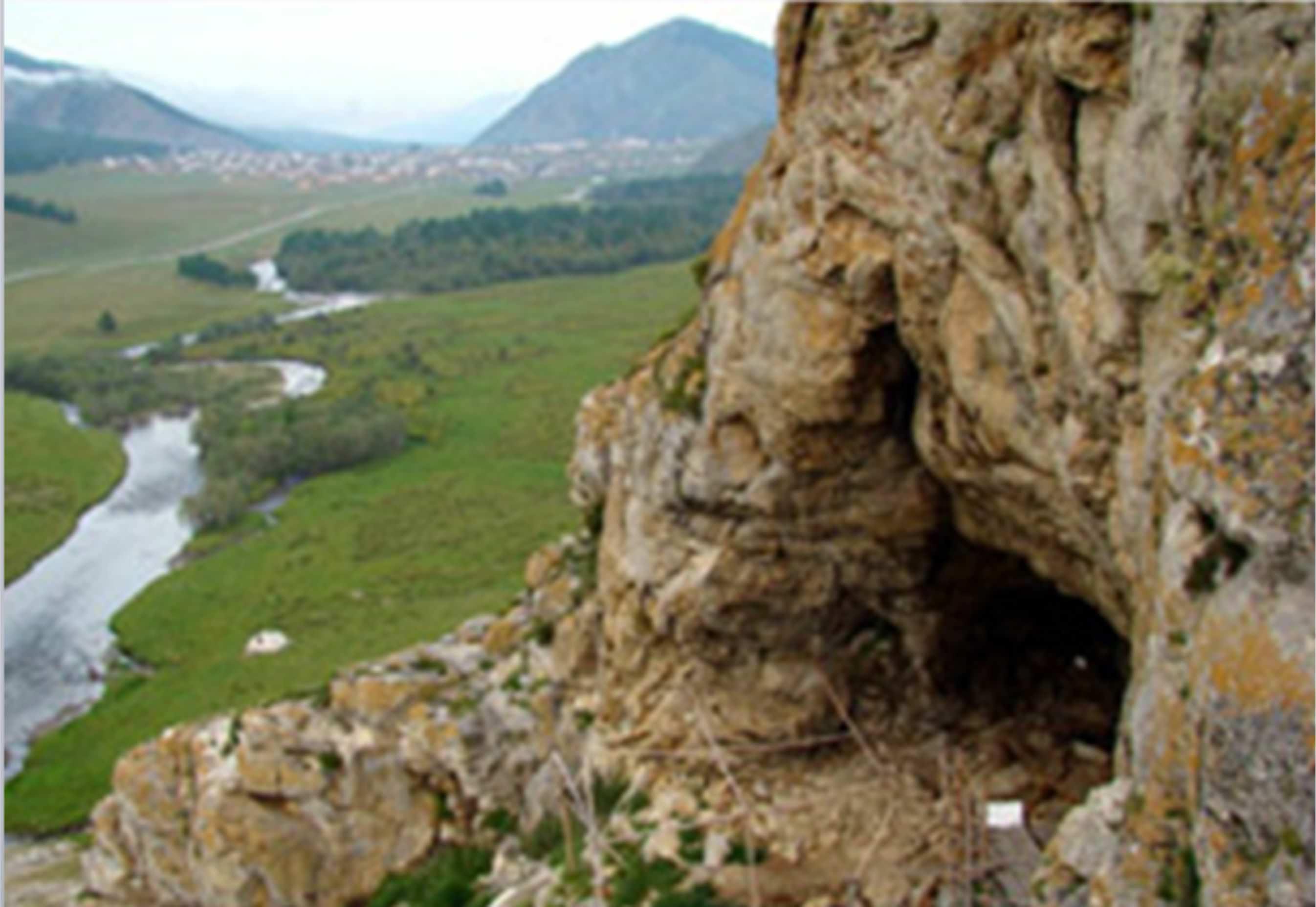 Вид с Усть-Канской пещеры