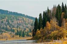 Река Мрас-Су в Кемеровской области.