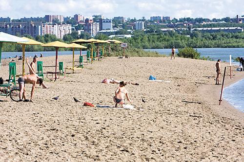 Бугринская роща пляж