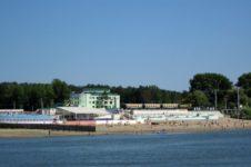 Пляж в Заельцовском парке Новосибирска