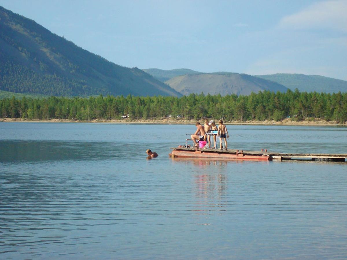 Купание на Слюдянских озерах
