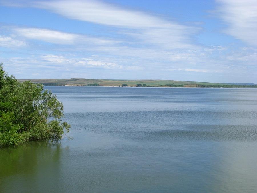 Гилевское водохранилище на алтае