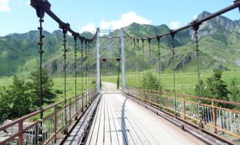 Ороктойский мост в Горном Алтае