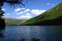 Озеро Позарым в Хакасии.