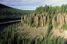 Суломайские столбы в Бакинском районе Красноярского края
