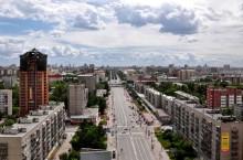 Улица Красный проспект в Новосибирске
