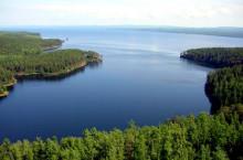 Усть-Илимское водохранилище в Иркутской области