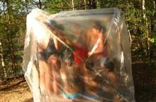 Как оборудовать баню в походе