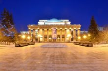 Открытие ледовых городков в преддверии 2020 года в Новосибирске
