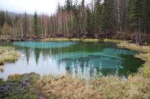 Гейзерное озеро в Горном Алтае