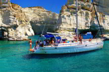 Путешествие на яхте в Греции